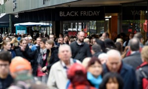 Shoppers pack Oxford Street in London on Black Friday.