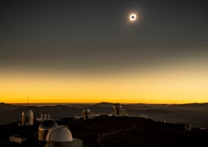 La Higuera, Chile The solar eclipse as seen from La Silla European Southern Observatory