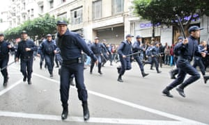 Dozens of arrests have been reported amid baton charges