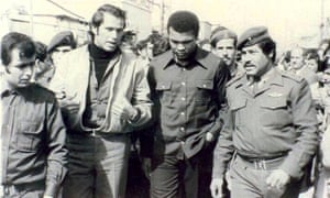 Part of the spirit of the age … Muhammad Ali visits Palestinian refugee camps in Lebanon, 1974