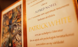 The work of Australian writer Patrick White is displayed at the National Library of Australia.