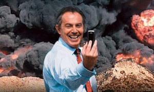 The poster for The Killing$ of Tony Blair.