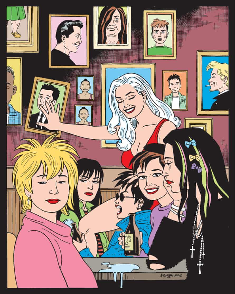 An image of the cover of the forthcoming issue of Love and Rockets: stories of SoCal punks
