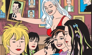 An image of the cover of the forthcoming issue of Love and Rockets.