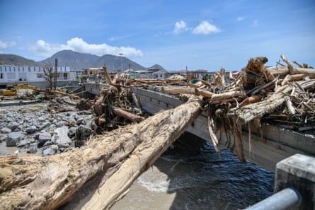 Destruction in Dominica after Hurricane Maria.