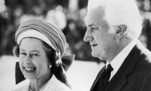 The Queen and Sir John Kerr in 1977