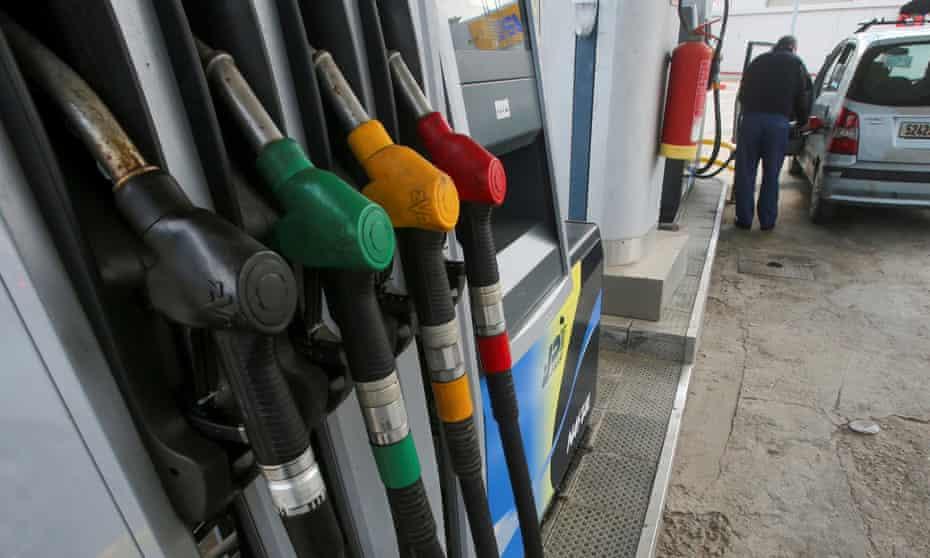 Pump nozzles at a petrol station in Algiers, Algeria
