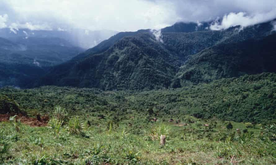 Mountain landscape near Membegan, West Papua, Indonesia