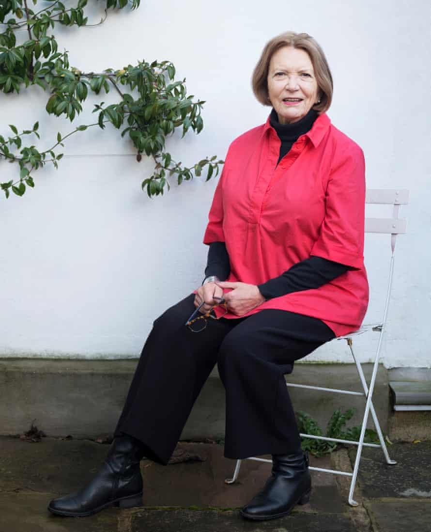 Joan Bakewell shot in her garden for OM