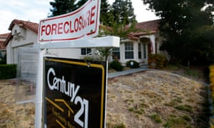 A foreclosed home in California during the financial crisis