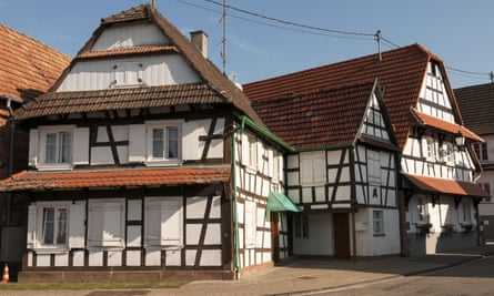 Half-timbered houses in Hunspach.