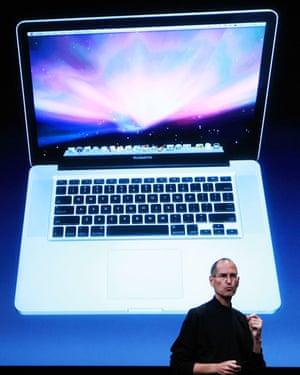 Steve Jobs with the MacBook