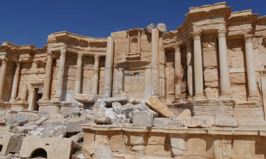 The ruined theatre in Palmyra