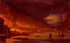 The Great Fire of London attributed to Waggoner c 1666