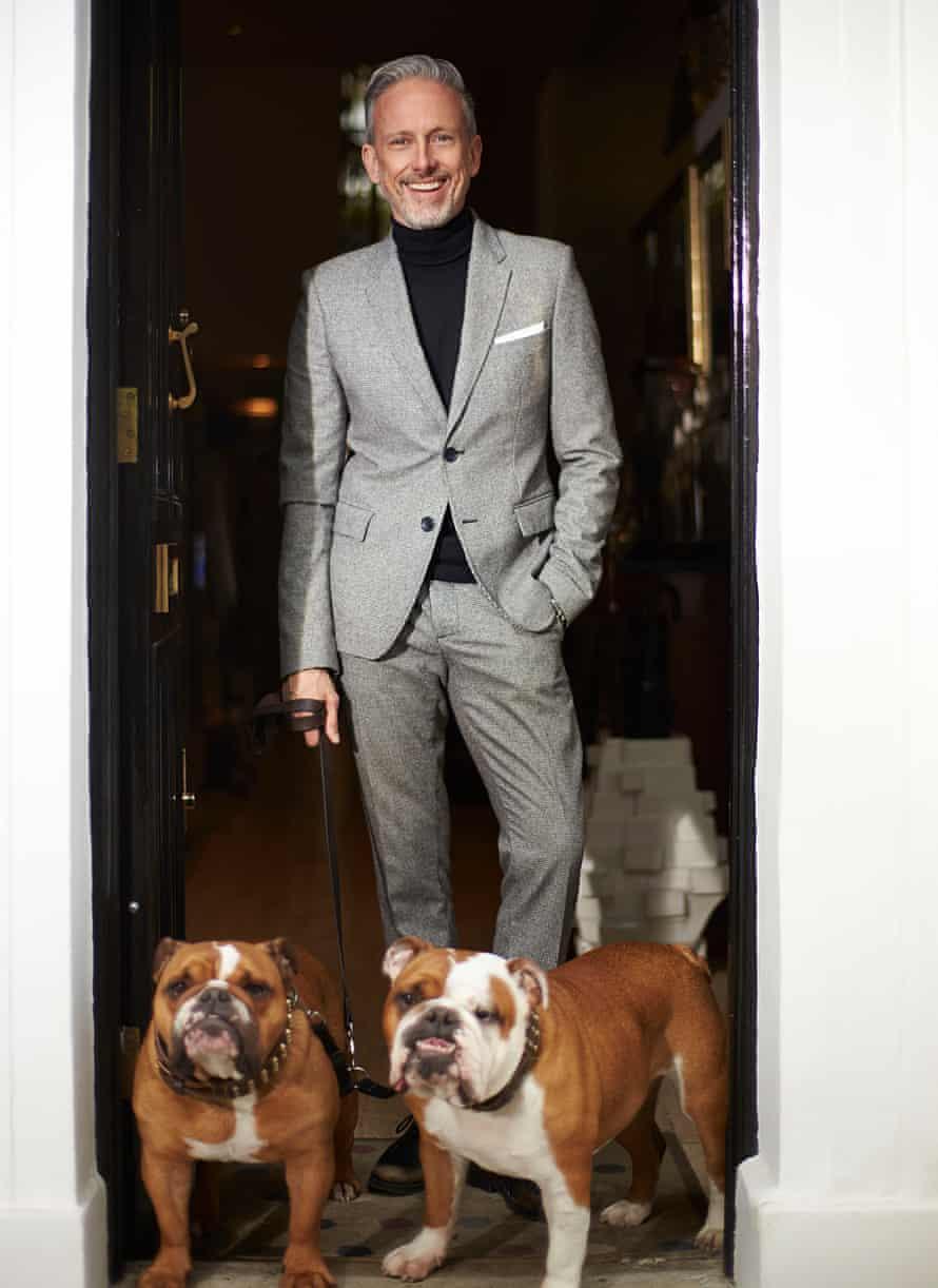 Patrick Cox and his bulldogs