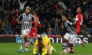 Matheus Pereira (right) saves the day for West Brom