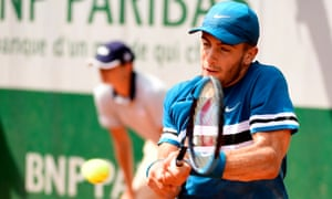 Borna Coric pings off a backhand during his victory over Thomas Fabbiano.