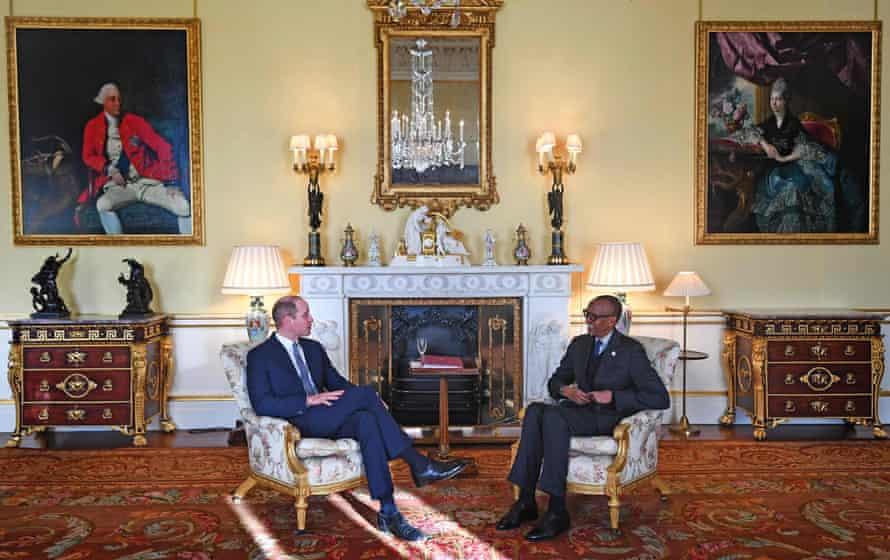 پرنس ویلیام با رئیس کاخامه رئیس رواندا دیدار می کند
