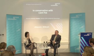 Bronwen Maddox, the IfG director, and Liam Fox