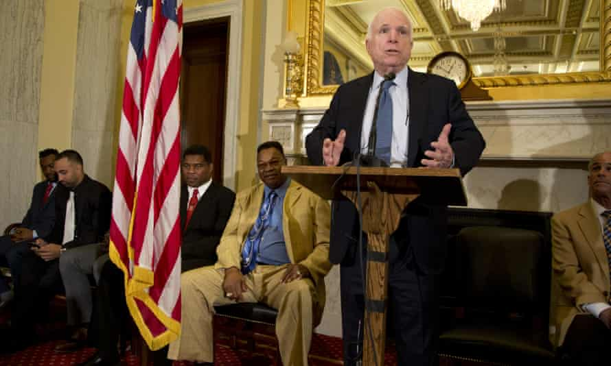 John McCain was joined by current and former athletes to discuss research into head trauma