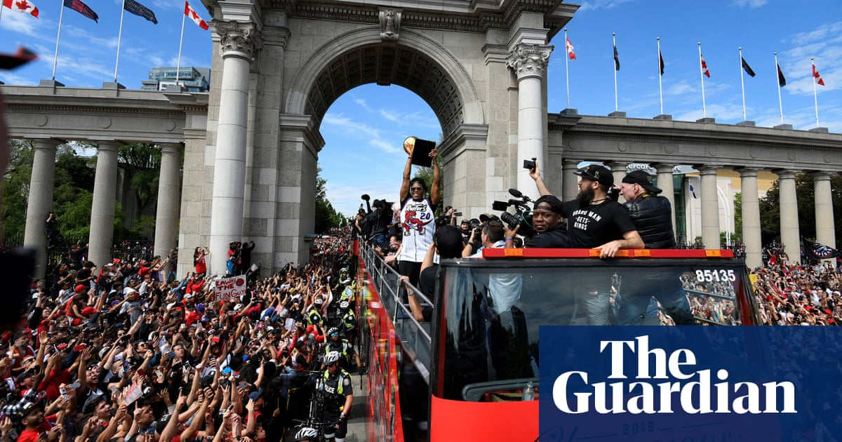 Toronto Raptors' victory parade marred by shooting and stampede – video report