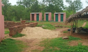 The characteristic pink toilets built across rural Odisha under the Swachch Bharat Mission