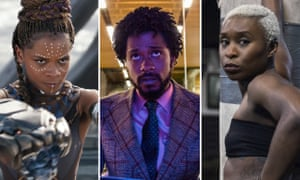 Bafta rising star nominees Letitia Wright (Black Panther), Lakeith Stanfield (Sorry to Bother You) and Cynthia Erivo (Widows).