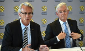 Football Federation Australia chief executive David Gallop and chairman Steven Lowy