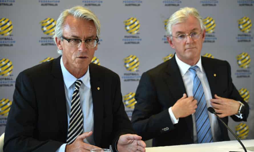 Football Federation Australia chief executive David Gallop and chairman Steven Lowy