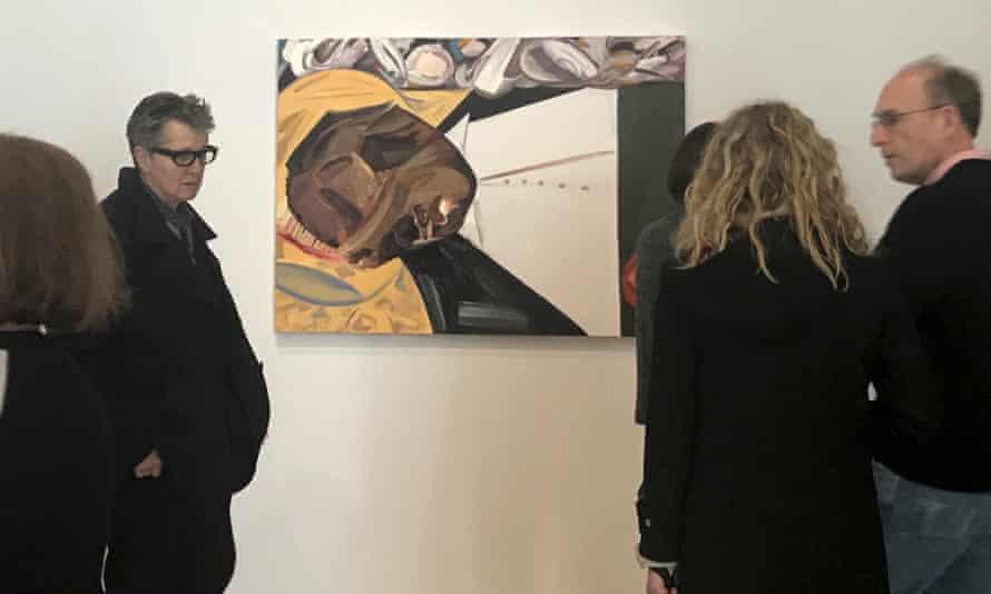 Dana Schutz's Open Casket at the Whitney Biennial.