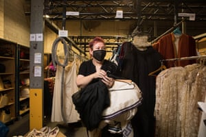 Jill Hodges browsing the racks.