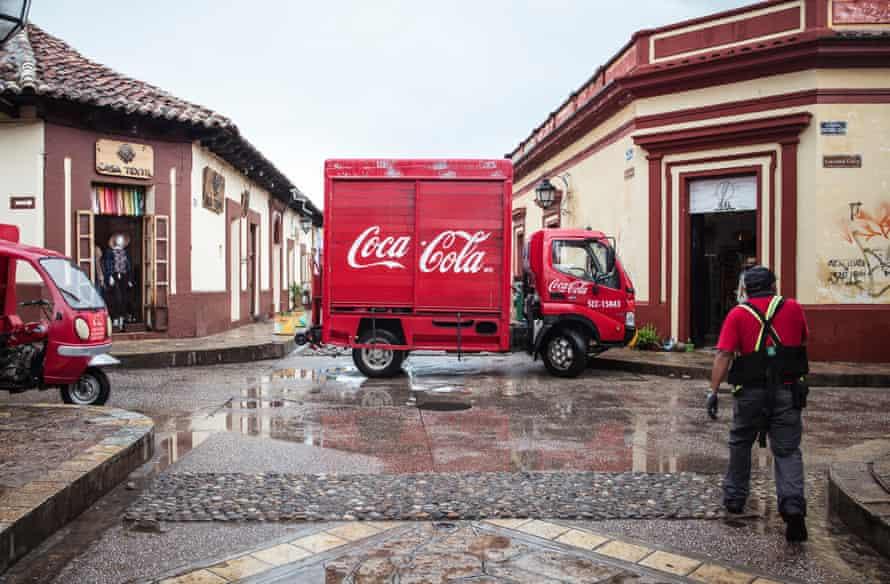 A Coca-Cola van in San Cristóbal