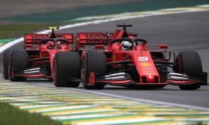Ferrari's Sebastian Vettel and Charles Leclerc at Interlagos.