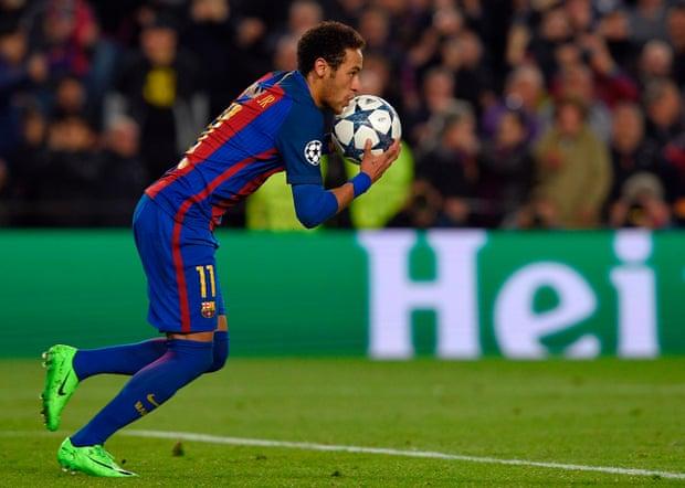 Neymar Celebrating scoring Penalty