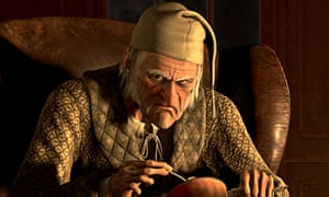 scrooge voiced by jim carrey in the 2009 disney adaptation of charles dickenss classic - A Christmas Carol 2009 Cast