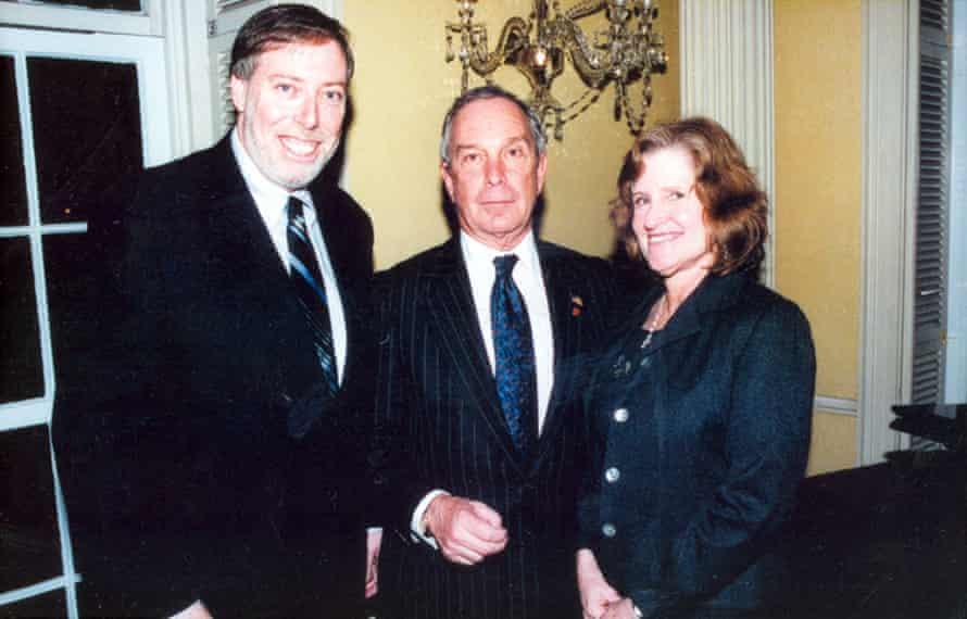 Gridlock Sam with former NYC mayor Michael Bloomberg.