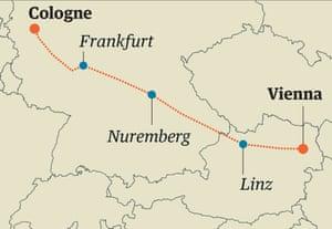 cologne vienna train map
