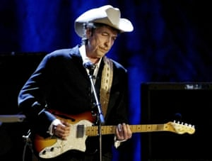 Bob Dylan performs at the Wiltern Theatre in Los Angeles in 2004.