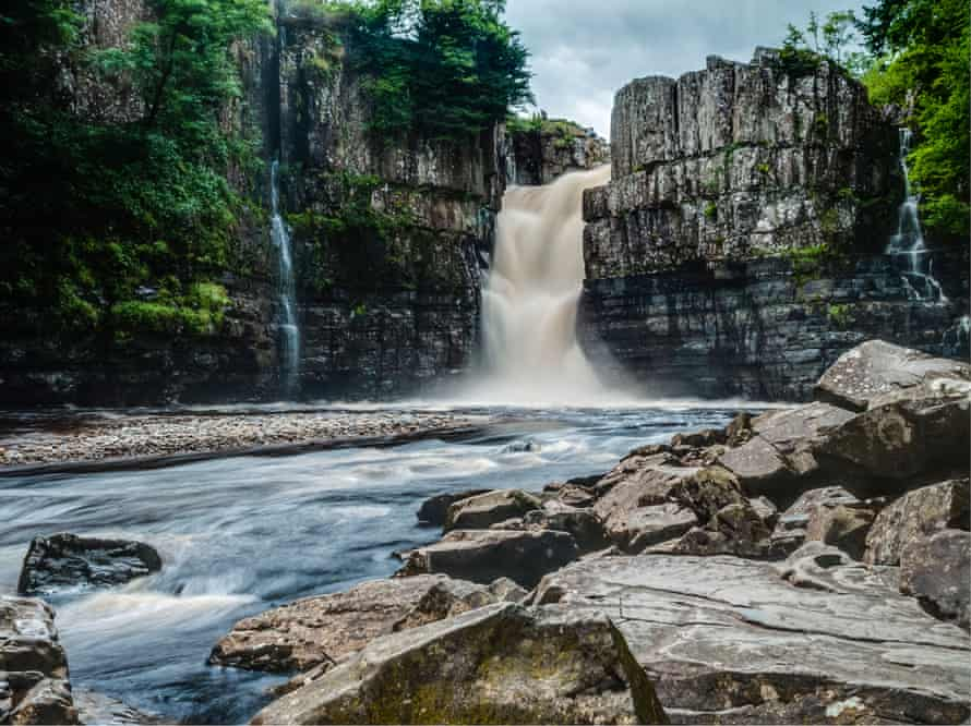 High Force waterfall on the River Tees, Co Durham.