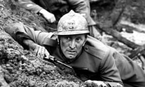Fable of outrage … Kirk Douglas in Paths of Glory.
