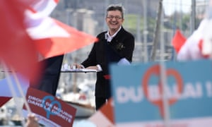 Jean-Luc Melenchon at a rally in Marseille