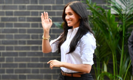 The Duchess of Sussex – recently criticised for individual private jet travel.