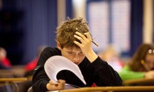 Child sitting exams