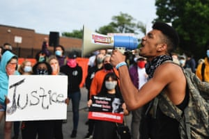 Florissant, US Protesters demonstrate against racism and police brutality at the Florissant Police Department in Missouri, US