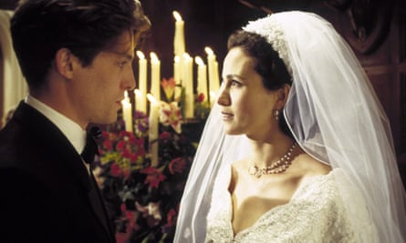 Hugh Grant and Andie MacDowell in Four Weddings and a Funeral.