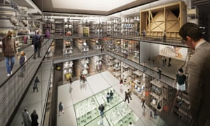 Internal render view of the new V&A collection and research centre at Here East.