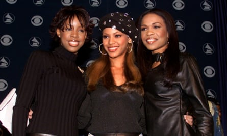 Destiny's Child bandmates Kelly Rowland, Beyonce Knowles and Michelle Williams.