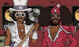 Funny, tragic and bizarre … Bootsy Collins, George Clinton and Parliament feature in Mike Judge Presents: Tales from the Tour Bus season two.