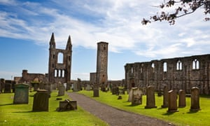 Ruin of St Andrews Cathedral.
