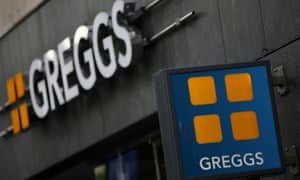 A Greggs sign outside a high street store